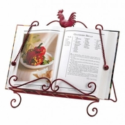 Cookbook Stand Metal  Red Rooster