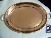 Copper Plated Tray Oval  Large