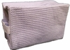 Cotton Waffle Cosmetic Bag Large  Lavender