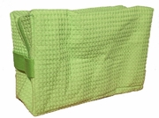 Cotton Waffle Cosmetic Bag, Large, Lime