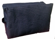 Cotton Waffle Cosmetic Bag, Large, Navy