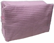Cotton Waffle Cosmetic Bag Large Pink