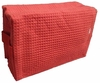 Cotton Waffle Cosmetic Bag, Large, Red