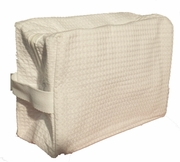 Cotton Waffle Cosmetic Bags Large