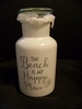 "Decorative Pharmacy Glass Jar ""The Beach is My Happy Place"""