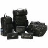 Diamond Plate 8pc Rock Design Genuine Buffalo Leather Motorcycle Luggage Set