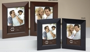 Double Picture Frame Wood  5 x 7