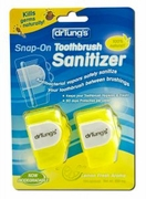 Dr Tungs Snap-on Toothbrush Sanitizer 2 per Pkg
