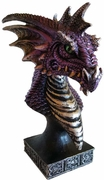 Dragon Head Figurine Purple  6 1/2""