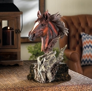 "Driftwood Stallion Sculpture  12""h"
