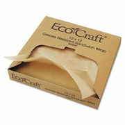 EcoCraft® Grease-Resistant Paper Sandwich Wrap  Natural  12 x 12 1000sh/bx