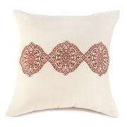 """Ecru and Spice Throw Pillow   18""""sq"""