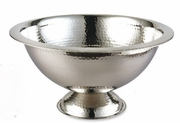 "Elegance® Hammered Stainless Steel Punch Bowl 15""  3 Gal."