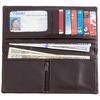 Embassy™ Chocolate Brown Solid Genuine Lambskin Leather Wallet
