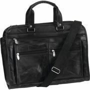 Embassy™ Italian Stone™ Design Genuine Buffalo Leather Concealed Carry Briefcase