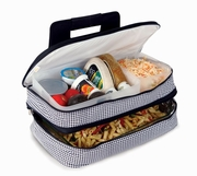 Entertainer Hot & Cold Food Carrier Houndstooth Pattern