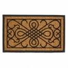 Entry Mat Scrollwork Design Rubber and Coir