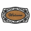 Entry Mat Welcome Frill Style Rectangular Frame Rubber and Coir