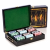 Executive Playing Card Set with 300 Chips in Wood Case