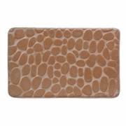 "Floor Mat Brown Stone Memory Foam  31"" x 19.5"""