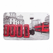 Floor Mat Red London Icons  29 x 17