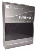 Funsheet Plus Rubber Feel Pillow Case  King  Black or White