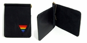 Gay Pride Leather Money Clip