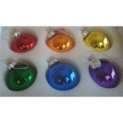 Gay Pride Rainbow Christmas Ornaments  6pc.