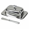 Glitter Galore Covered Butter Dish & Spreader  7.25 in.