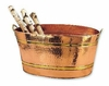 Hammered Copper Plated Oval Party Tub   11 Gallons