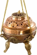 Hanging Brass Incense Burner  4""