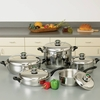 """HealthSmart™  12-Element """"Waterless"""" Cookware Set with Thermo Control Knobs 10pc"""