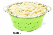 HIC Collapsible Colander with Metal Handles 3 QT