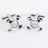 Hot and Cold Faucet Rhodium Plated Cufflinks