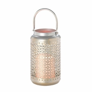 "Iron Filigree LED Lantern  12"" H"