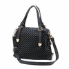 Jetset Black Woven Texture Shoulderbag