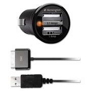 Kensington PowerBolt Duo Car Charger With 30-Pin USB for Apple Devices