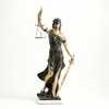 """Lady Justice Large Bronzed Statue  39""""h."""