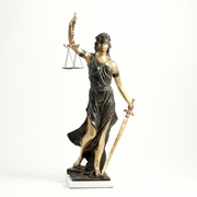 "Lady Justice Large Bronzed Statue  39""h."