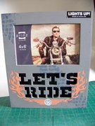 "LED Photo Plaque ""Let's Ride"" for 4 x 6 Photo"
