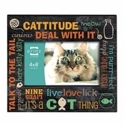 Live,Love,Lick Cat Photo Frame 6 x 4