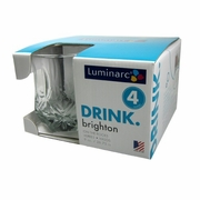 Luminarc Brighton Rocks Glass 10oz  4pc/set