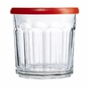 Luminarc Working Glass Set with Red Lids 14oz.  6/set
