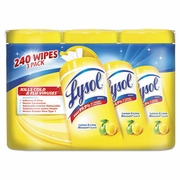 Lysol Disinfecting Wipes, 7x8, Lemon and Lime Blossom, 80/Canister, 3/Pack, 2 Packs/CS