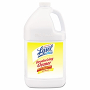 LYSOL Professional Disinfectant Deodorizing Cleaner, 1gal Bottle, Concentrate, Lemon, 4/Carton