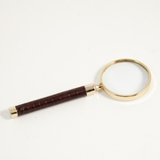 Magnifier Croco-Grained Leather