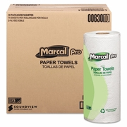 Marcal Pro�  100% Premium Recycled Towels, 2-Ply, 11 x 9, White, 70/Roll, 30 Rolls/Carton