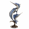 Marlin and Sailfish Brass Sculpture