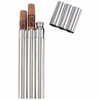 Maxam® 2oz Stainless Steel Flask with 2 Cigar Tubes