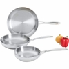 Maxam® 3pc T304 Stainless Steel Fry Pan Set